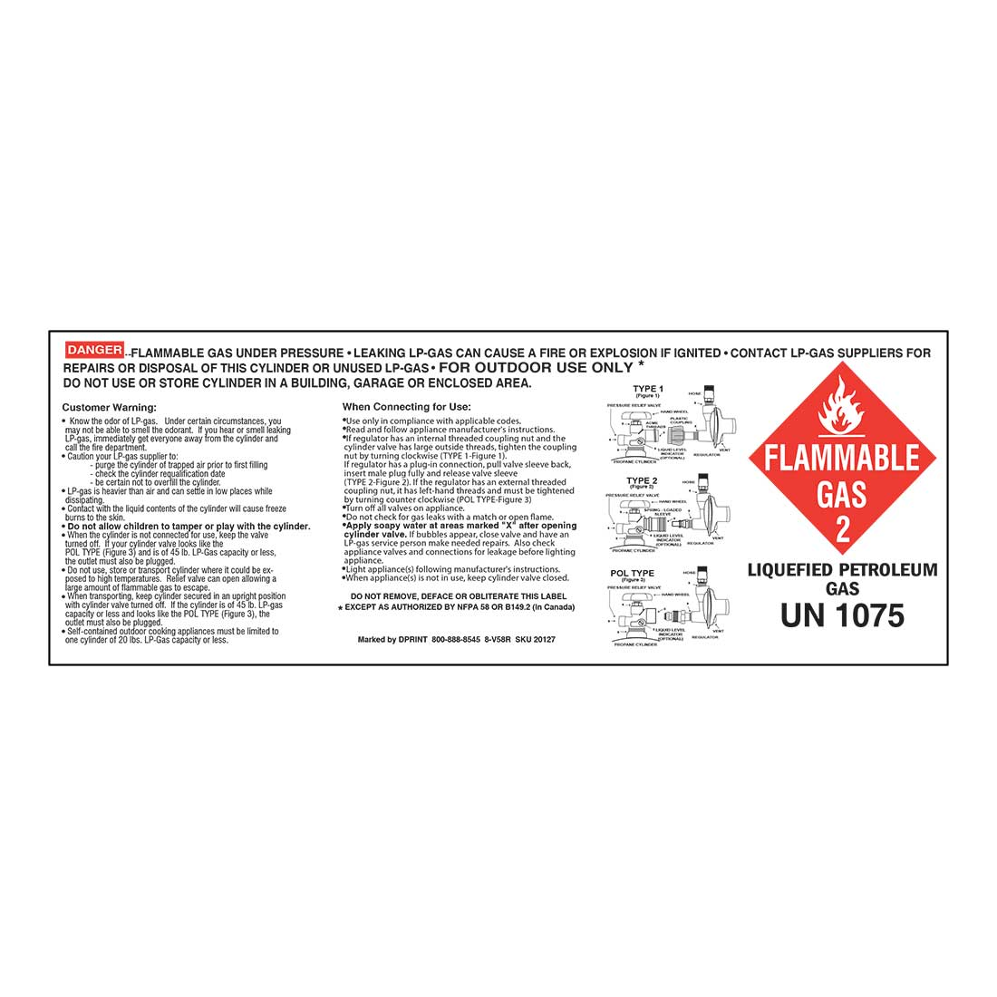 2-In-1 Cylinder Label (10x3.375)