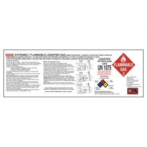 Propane Hazard Label (10x3.375)