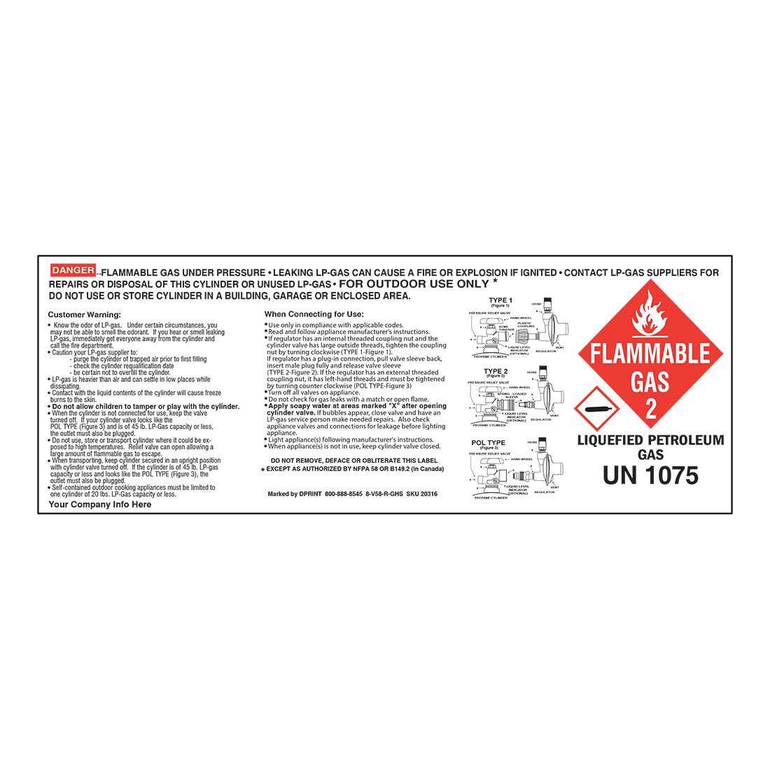 2-in-1 Cylinder Label