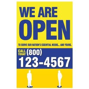 We Are Open Door Sign 11 x 17