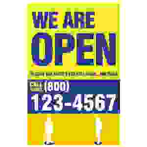 We Are Open Door Sign 11 x 17