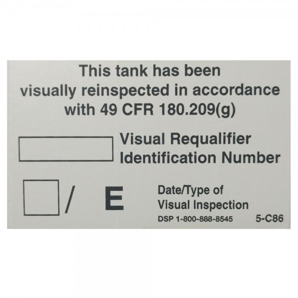 05-C86 Custom Visual Reinspection Decal (3x1.875)